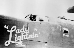 Ray Zuker in the WWII heavy bomber Lady Lightnin'
