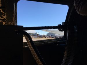 looking through the B-17s window