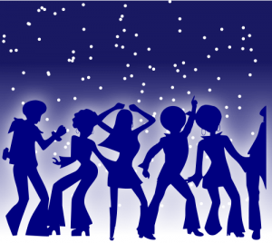 Disco Dancers Silhouette from Openclipart.org